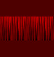 colorful naturalistic gradient red curtains vector image vector image