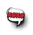 Comic text xoxo sound effects pop art vector image vector image