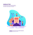 concept newsletter modern conceptual for vector image vector image