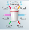 cup of coffee tea - business infographic vector image vector image