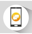 device mobile icon bubble speech social media vector image