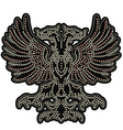 eagle emblem with studs vector image