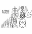 electrical power lines vector image vector image