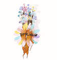 fashion spring design with carrot and field flower vector image vector image
