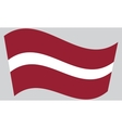 Flag of Latvia waving vector image