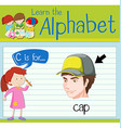 Flashcard letter C is for cap vector image vector image
