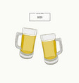 glasses of beer hand draw vector image