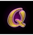golden and pink letter q vector image vector image