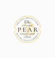 golden pear farm badge or logo template hand vector image vector image