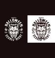 halloween monochrome emblem vector image vector image
