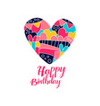 happy birthday day logo creative template vector image