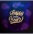 happy new year 2019 typographic emblem vector image