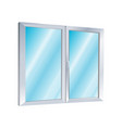 icon plastic windows construction industry vector image