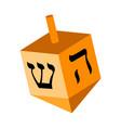 jewish dreidel icon vector image