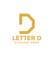 letter d logo icon design template vector image