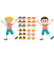 Little boys with facial expressions vector image