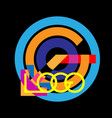 logo letter- logo with colorful vivid stripes vector image vector image