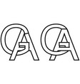 logo sign ga ag icon sign interlaced letters a g