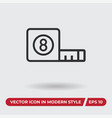 measuring tape icon in modern style for web site vector image vector image