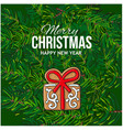merry christmas greeting card gingerbread cookie vector image