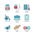 minimal lineart flat medical iconset pills bottle vector image vector image