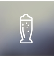Mug of beer thin line icon vector image