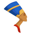 nefertiti isolated profile egyptian queen ancient vector image