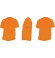 orange t shirt vector image vector image