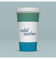 paper cup cold water vector image
