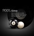 pool ball vector image