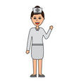 portrait female doctor medical healthcare vector image vector image