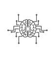 Printed circuit board human brain center of