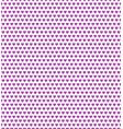 purple heart shape pattern vector image vector image