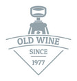 restaurant wine logo simple gray style vector image vector image