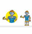 robot builder vector image