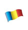 romania flag vector image vector image