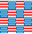 Seamless background with american flag vector image vector image