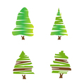 set green trees vector image