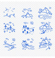 set of natural landscapes icons vector image vector image