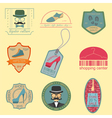 Set of vintage fashion and clothes style logos vector image vector image