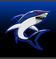 shark esport mascot logo design vector image