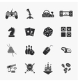sixteen flat game icons vector image vector image