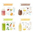 smoothie drink recipe set vector image