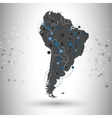 South America map for communication vector image vector image