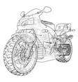 sport motorbike technical wire-frame vector image vector image