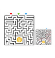 square maze labyrinth game with bitcoin labyrinth vector image vector image