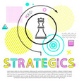 strategics and steps analyzing vector image vector image