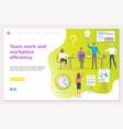 teamwork workplace efficiency business seminar vector image vector image