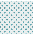 Tile pattern blue polka dots on grey background vector image vector image