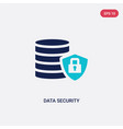 two color data security icon from big data vector image vector image